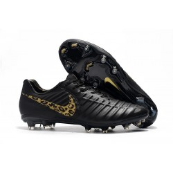 Football Cleats Nike Tiempo Legend VII FG - Black Gold Leopard