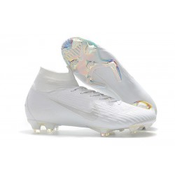 New Nike Mercurial Superfly VI Elite FG Football Cleats - All White