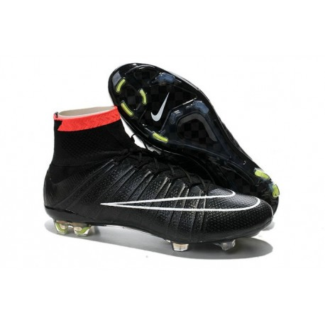 Sale Nike Men's Mercurial Superfly 4 FG Football Cleats Red White Black