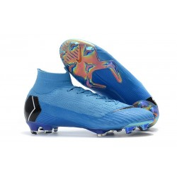 New Nike Mercurial Superfly VI Elite FG Football Cleats - Blue Black