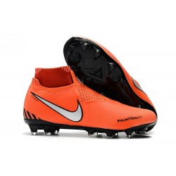 Nike Phantom Vision Elite DF FG - Football Cleats Orange Black White