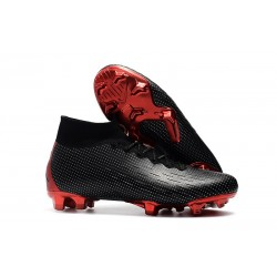 New Nike Mercurial Superfly VI Elite FG Football Cleats - Nike x Jordan Black Red