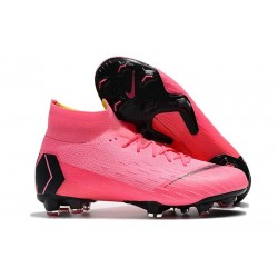New Nike Mercurial Superfly VI Elite FG Football Cleats - Pink Black