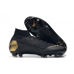 New Nike Mercurial Superfly VI Elite FG Football Cleats - Black Lux Black Gold