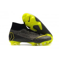 New Nike Mercurial Superfly VI Elite FG Football Cleats - Grey Yellow