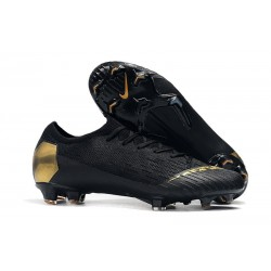 Football Boots for Men - Nike Mercurial Vapor XII 360 Elite FG Black Lux Black Gold