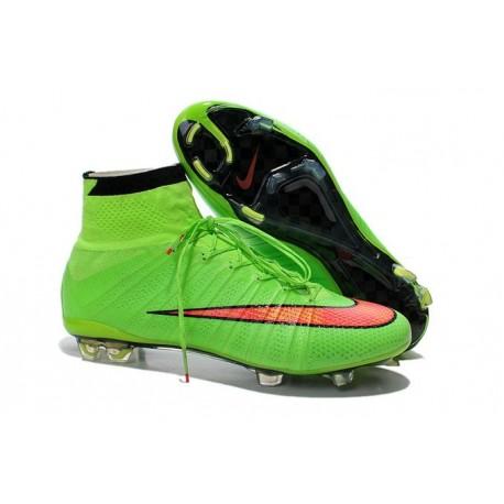 2016 Nike Men's Mercurial Superfly IV FG Football Shoes Green Red Black