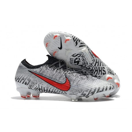Neymar Nike Mercurial Vapor XII 360 Elite FG White Red Black