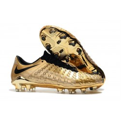 2019 Nike Hypervenom Phantom III FG Mens Boots Firm Ground Gold Black