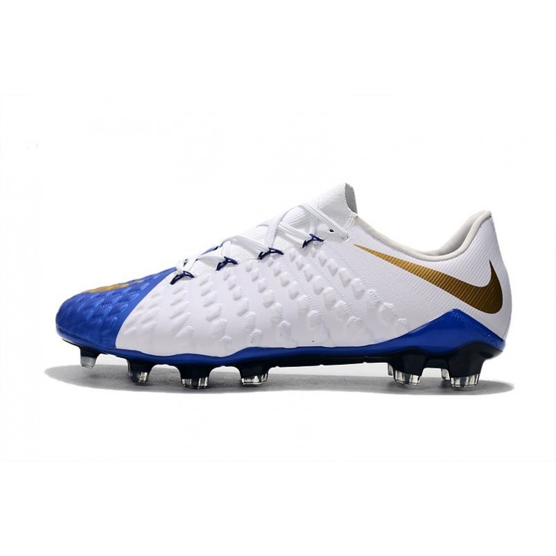 huge selection of 183a9 af008 Neymar Soccer Cleats Nike HyperVenom Phantom III FG Blue ...