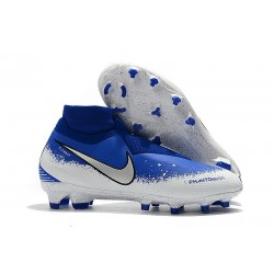 New! Soccer Cleats Nike Phantom Vision Elite DF FG Blue White