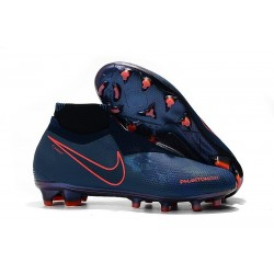 Nike Phantom Vision Elite DF FG - Cyan Red