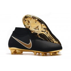 Nike Phantom VSN Elite DF FG Mens Boot Black Golden