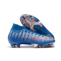 Nike Mercurial Superfly VII Elite FG Boots Blue Red Silver