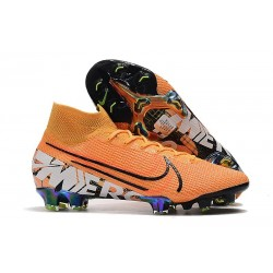 Nike Mercurial Superfly VII Elite FG Boots Orange Black White
