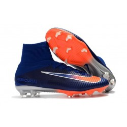 Nike Soccer Cleats - Nike Mercurial Superfly V FG Blue White Orange