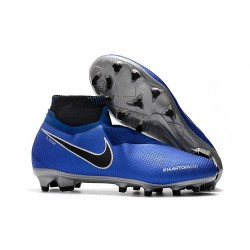 New! Soccer Cleats Nike Phantom Vision Elite DF FG Racer Blue Metallic Silver Black Volt