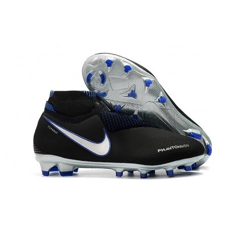 New! Soccer Cleats Nike Phantom Vision Elite DF FG Black Blue
