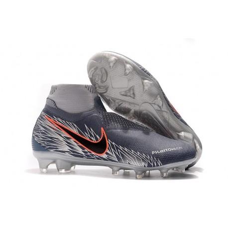 New! Soccer Cleats Nike Phantom Vision Elite DF FG Grey Black