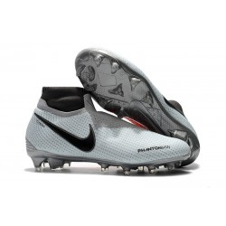 Nike Phantom Vision Elite DF FG - Football Cleats Grey Red