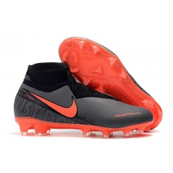 Nike Phantom VSN Elite DF FG Mens Boot Black Crimson