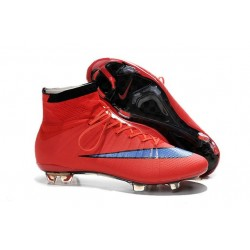 Nike Men's Mercurial Superfly 4 FG Football Cleats Bright Crimson Persian Violet Black