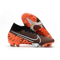 Nike Mercurial Superfly 7 Elite FG Top Cleats Black Hyper Crimson