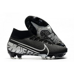 Nike Mercurial Superfly 7 Elite FG Top Cleats Black Metallic Cool Grey