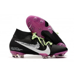 Nike Mercurial Superfly 7 Elite FG Top Cleats Black Purple White