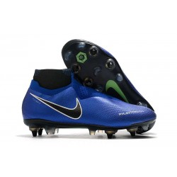 Nike Phantom Vision Elite DF SG-Pro Anti Clog Racer Blue Black Silver