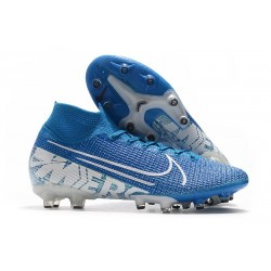 Nike Mercurial Superfly 7 Elite AG-PRO Boots New Lights Blue White