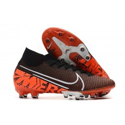 Nike Mercurial Superfly 7 Elite AG-PRO Limited Edition Black White Hyper Crimson