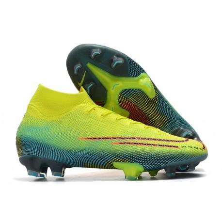Nike Men's Mercurial Superfly 4 FG Football Cleats Volt Hyper Pink Black