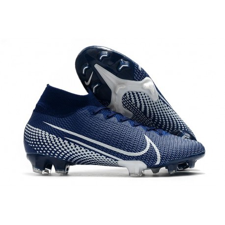 Nike Mercurial Superfly 7 Elite FG Top Cleats Blue White