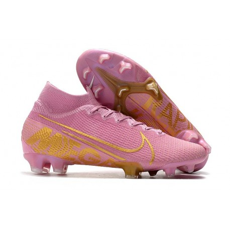 Nike Mercurial Superfly 7 Elite FG Top Cleats Pink Gold