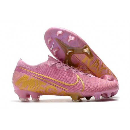 Nike Mercurial Vapor XIII Elite FG Firm Ground Boot Pink Gold