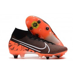 Nike Mercurial Superfly VII Elite SG-PRO AC Black Crimson White