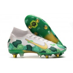 Nike Mercurial Superfly VII Elite SG-PRO AC Mbappe White Green Gold