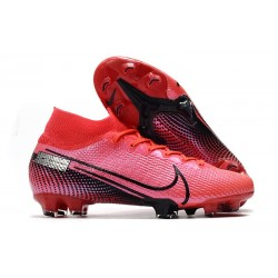 Nike Mercurial Superfly 7 Elite FG Top Cleats Laser Crimson Black
