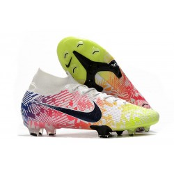 Nike Mercurial Superfly VII Elite DF FG Neymar White Black Blue Volt