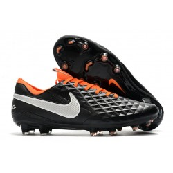 Soccer Boots Nike Tiempo Legend 8 FG Black White Orange