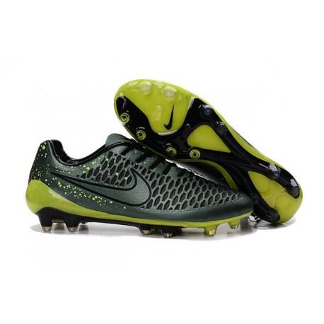 2016 Nike Magista Opus FG Men's Soccer Cleats Dark Citron Volt Black