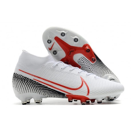 Nike Mercurial Superfly 7 Elite AG-PRO Boots White Red