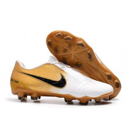 Nike Phantom Vnm Elite FG Soccer Boot -Gold White Black