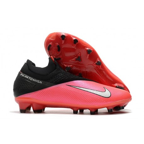 Nike Phantom VSN II Elite DF FG Laser Crimson Metallic Silver Black