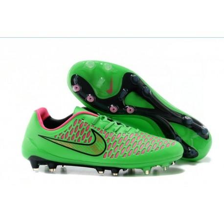 2016 Nike Magista Opus FG Men's Soccer Cleats Green Black Pink
