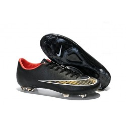 2016 Best Shoes - Nike Mercurial Vapor X FG Black Gold Red