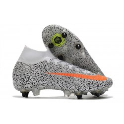 Nike Mercurial Superfly VII Elite SG AC CR7 Safari -White Orange Black