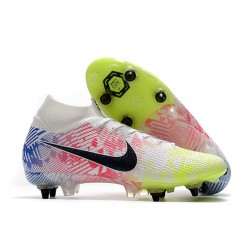 Nike Mercurial Superfly VII Elite SG-PRO Neymar White Black Blue Volt