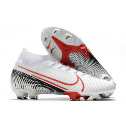Nike Mercurial Superfly VII Elite FG LAB2 - White Laser Crimson Black